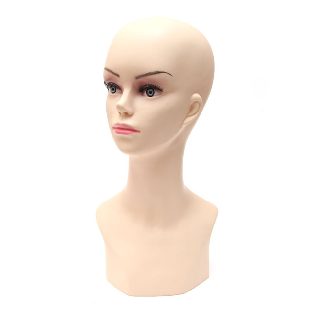 Skin Color Female Mannequin Head Ornaments Wig Props Model Display