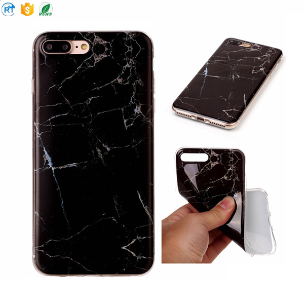 IMD Black Marble Foil Gold Printing Anti-Scratch Silicone Slim Fit Soft Flexible Gel TPU Mobile Phone Case For iPhone X
