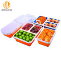 Pp Lid Airtight Fruit Food Container Lunch Box With Compartments