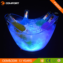 Hot led lighting belvedere vodka bottle ice bucket
