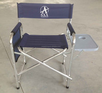Portable Director's Chair, Durable fabric,Firm support seat,Side table with cup holder