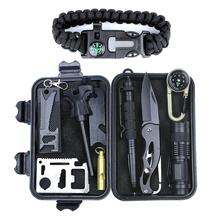 SOS Emergency survival equipment kit outdoor gear tool set tactical camping
