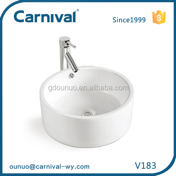 Alibaba china ceramic bowl shape wash basin V183