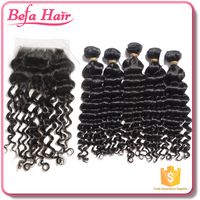 6A top quality noble weave ladies weaves deep wave peruvian hair with closure