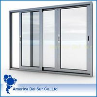Aluminum profile casement window parts with size drawing