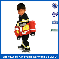 Hot sale kids play dress firefighter suits of stage costume for halloween