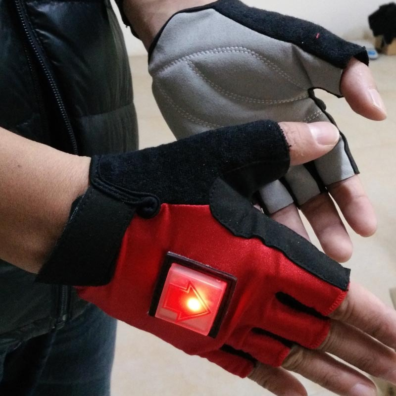 LED Intelligent Cycling Gloves Bicycle Direction Turn Signal sport Gloves