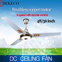 Cheap price AC/DC ceiling fan remote control 220v 5 speed dc fan