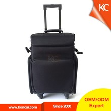 Guangzhou Factory Rolling Nylon Soft Makeup Bags Tool Trolley Case