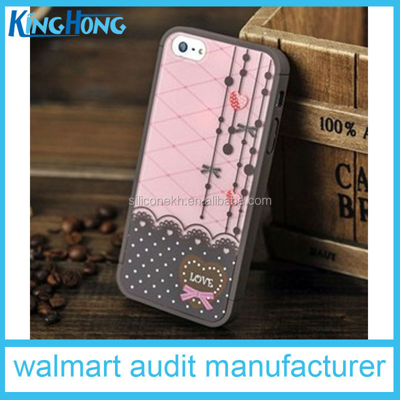 Newly promotional custom silicone flip mobile phone case for Iphone6 plus