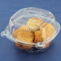Small clear plastic clamshell cake box, cake container for bakery