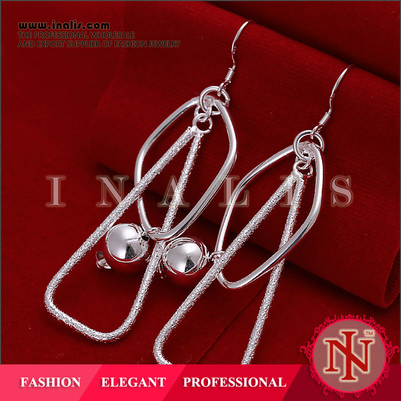 Charming silver closeout hoop earring finding E072