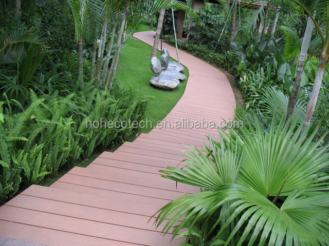 Public construction wpc outdoor timber decking