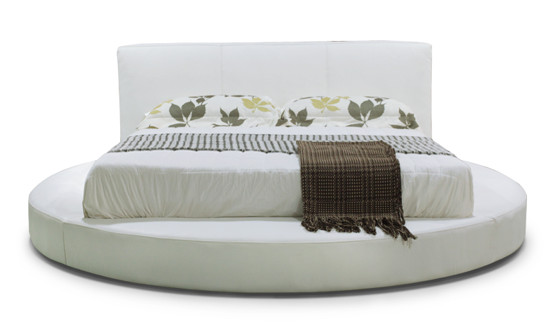 Elegant style high quality white round bed