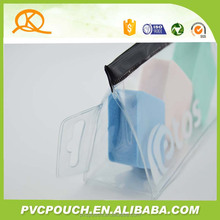 Multicolor make up packing PVC blacke zipper plastic bag