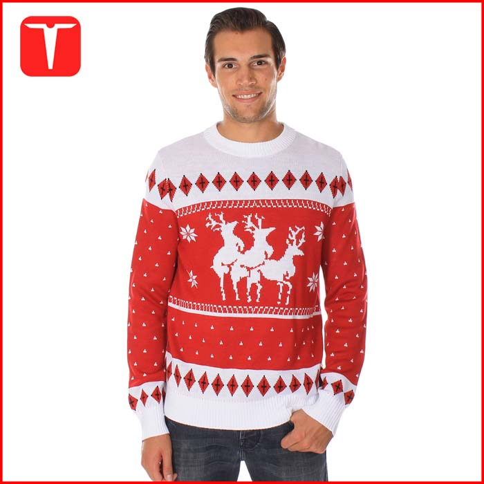 Unisex custom knitted jumpers ugly christmas sweater