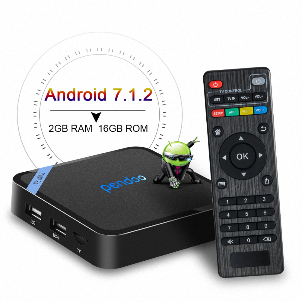 Amlogic S905W Mini TV Box Pendoo X8 Mini 1GB ddr3 ram 8GB rom hd live mini pc 4k with IR AND mount android tv box