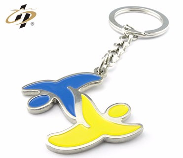 alibaba china factory wholesale custom metal made samples penguin keychain