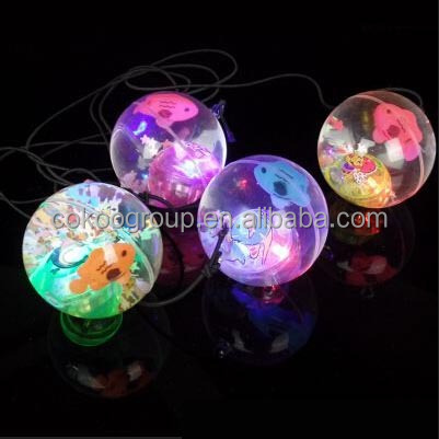 Led glow in the dark bouncing ball for children
