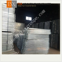 Tianjin Factory TSX-CW10011 steel grating catwalk/hot dipped galvanized steel gully grating