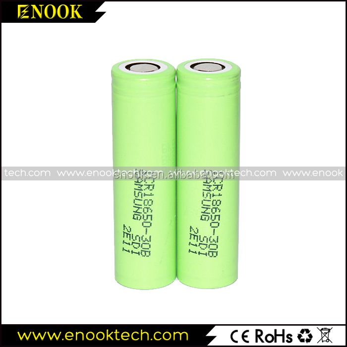 samsung ICR 30b 3000mAh 2A rechargeable battery for e-cig,e-liquid