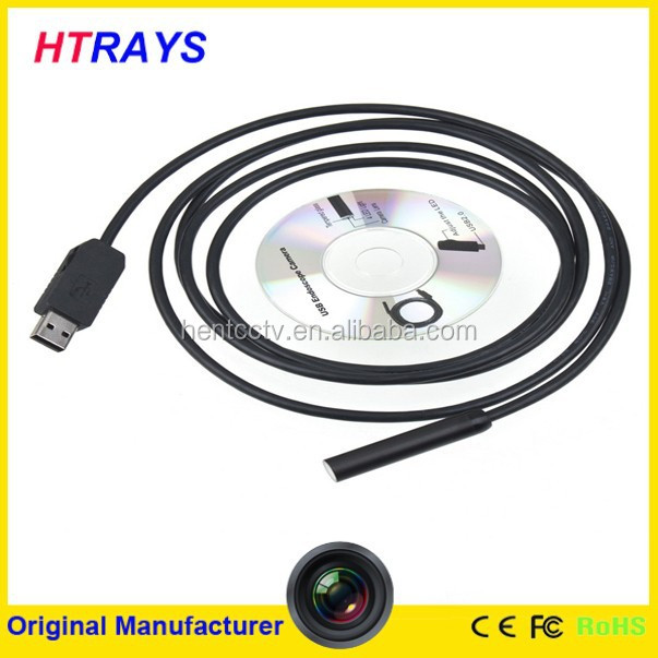 Factory supply dia 7mm 6LEDS waterproof under vehicle inspection camera