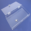 new arrival high transparent plexiglass storage box with lock