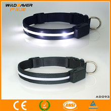 Color LED flashing luxury dog collar