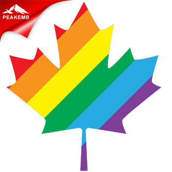 Rainbow leaf heat transfer vinyl for clothes