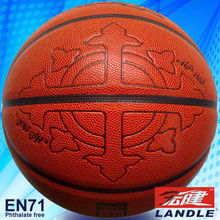 colorful heat transfer printing orange leather basketball