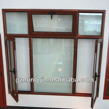 Wooden color aluminum window frames designs buy wooden for Window frame design