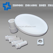 white plastic molded recycled ptfe machining parts