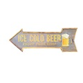 Embossed Tin Sign Ice Cold Beer Arrow