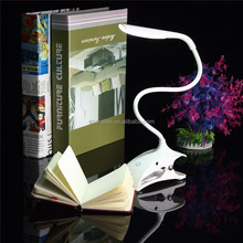Hot Flexible Dimmable USB ABS Touch Sensor White LED Clip on Beside Book Reading Light Table Desk Lamp For Bed