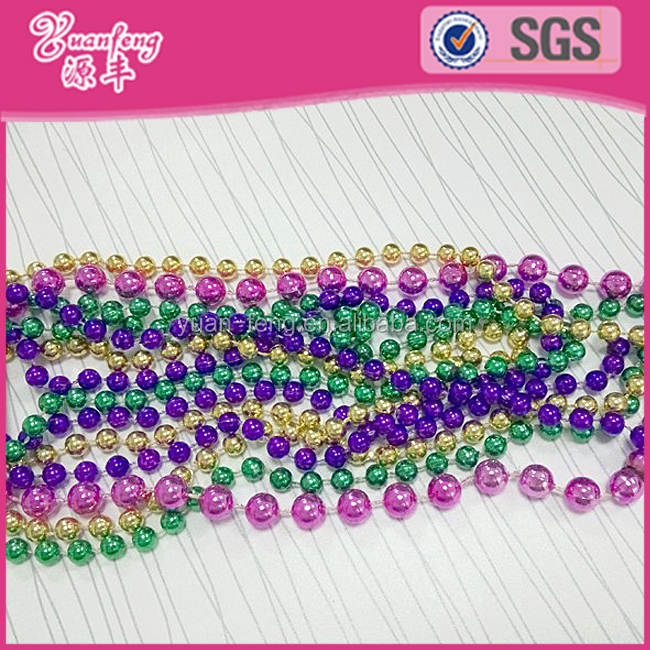China Factory Wholesale Round Shape Mardi Gras Beads