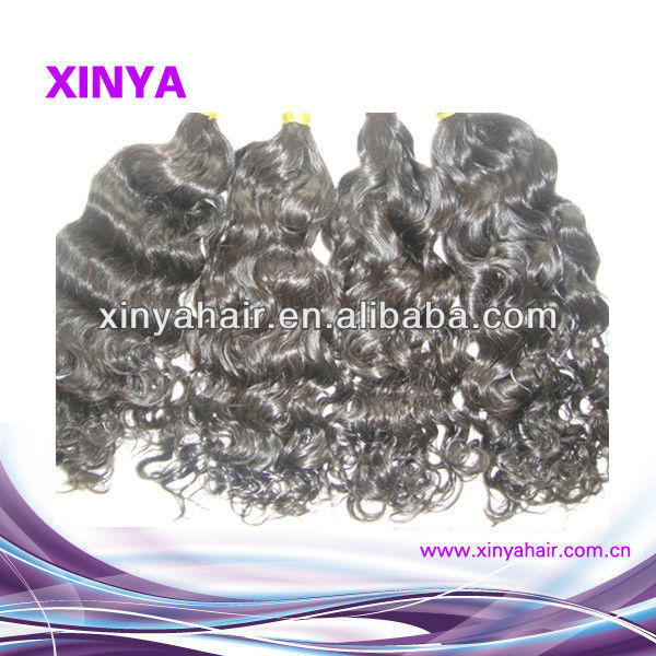 High quality Loose curly wavy 20inch Remy Indian grey human hair weaving