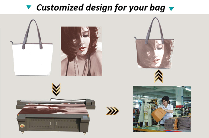 Design Custom logo printed fashion bags ladies handbags