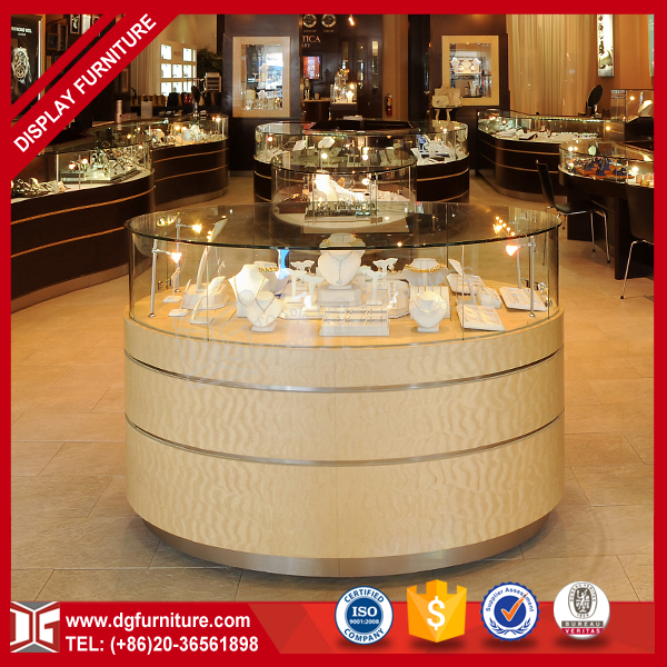 Fashionable Retail Glass Wooden Used Jewelry Showcases