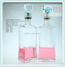 2014 New Style High Quality whiskey bottle sizes wholesale