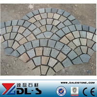 Chinese Slate Patio Pavers with Black, Yellow, Rusty Color