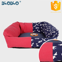 two pattern fabric joint modern inflatable dog bed