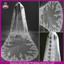 SW773 Appliqued off white high quality summer soft tulle wedding dresses veil