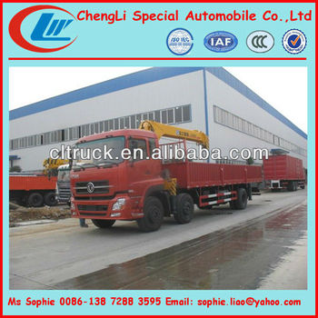 dongfeng 6x2 truck mounted crane, truck with crane, mobile crane