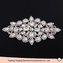 Best Prices Latest custom design crystal bridal rhinestone applique with competitive prices