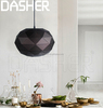 Dasher ancient retro industrial pendant light metal lampshade with E27 edison bulb 60w