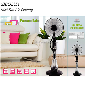 EU hot Sale Water spray fans remote control 16 inch cooling mist stand fan