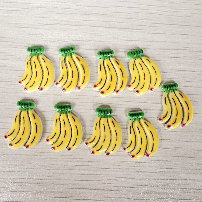 Fruit Banana figurine Small fruit design Resin Home Decor Fruit Banana Resin Fridge Magnet