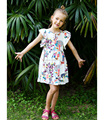 China garment manufacture wholesale girls print casual dress