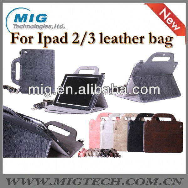 Fashional hand bag for ipad case with strap, for ipad 2 case