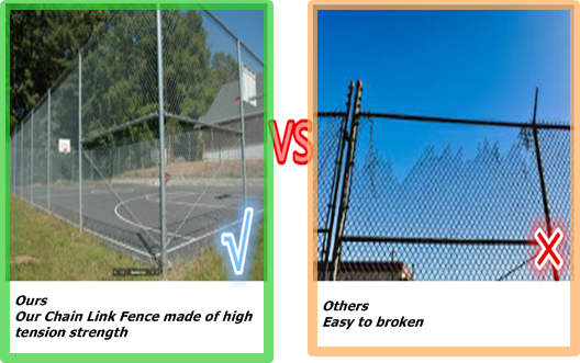 2017 high quality used chain link fence gates used chain link fence for sale factory